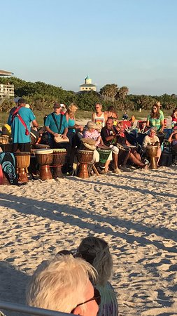 Nokomis, FL: The drum circle -- people come from all over to play