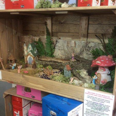 Rosebank, UK: Fairy garden display.