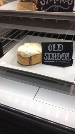 "Brea, CA: The ""Old School"" cinnamon roll. You can get day-old rolls at a reduced price too."