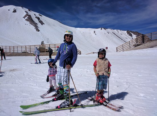 Mammoth Mountain: Summer Skiing in swimsuits - 80* in June