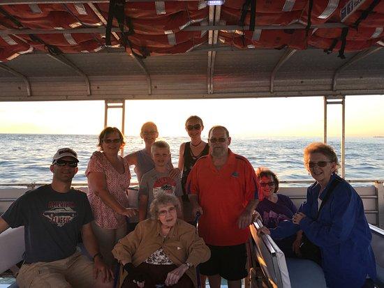 Bradenton Beach, FL: Our whole group enjoying the cruise