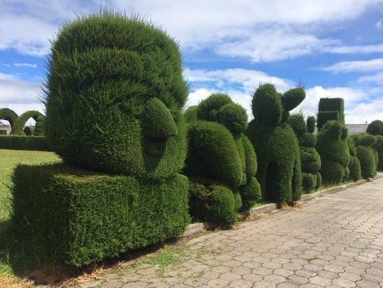 Tulcan, Ecuador: cultura precolombina hecha en jardinería