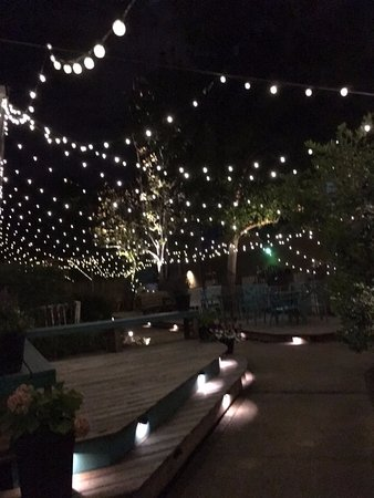 Starkville, MS: Beer Garden at night