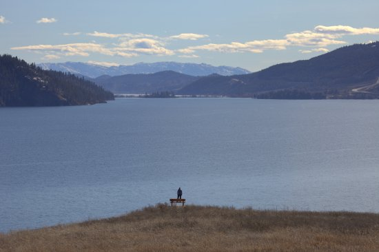 Vernon, Canada: View of Kalamalka Lake from the nature trail at kekuli