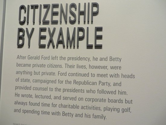 Gerald R. Ford Museum : Citizenship By Example - The years after his Presidency