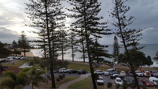 Caloundra, Australia: View from balcony at sunset