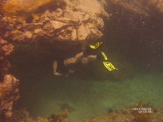 Anse La Raye, St. Lucia: swim through