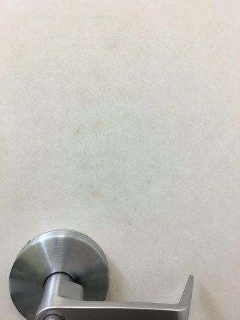 Fairfield Inn & Suites Hartford Airport: dirty fingerprints , hand marks on inside of bathroom door...