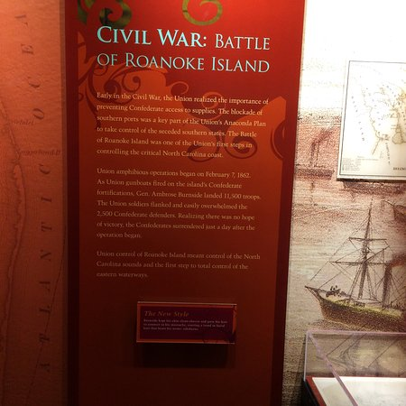 Manteo, Karolina Północna: Civil War - Battle of Roanoke Island - info