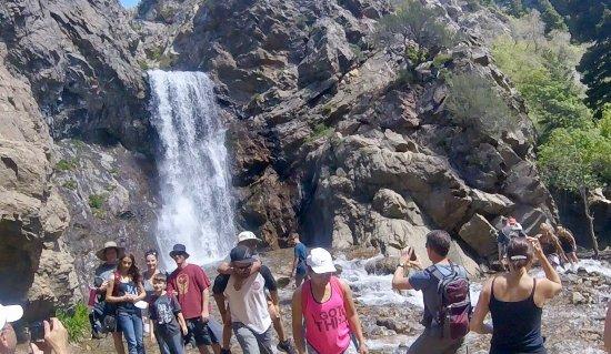 Layton, UT: Saturday's crowd at the waterfall