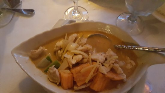 Green Brook, Nueva Jersey: Chicken with Sweet potato and Coconut