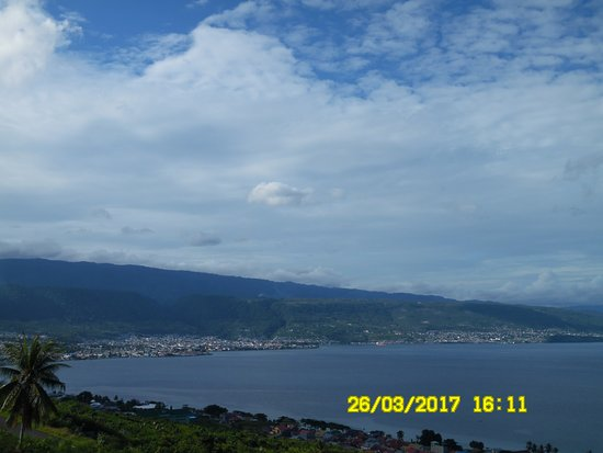 Central Sulawesi, Indonesia: The view of Molucca Sea from roof top