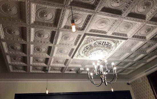 Cowra, Australia: The magnificent original pressed metal ceiling.