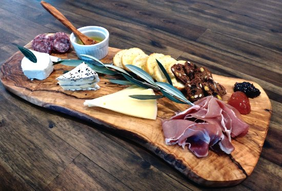Healdsburg, CA: Our cheese and charcuterie plate is served daily - all local!