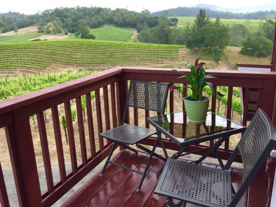 هيلدسبيرغ, كاليفورنيا: Guest House Balcony view