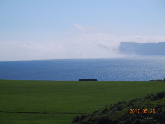 Ballycastle, UK: Early morning sea mist seen from Kinbane B&B