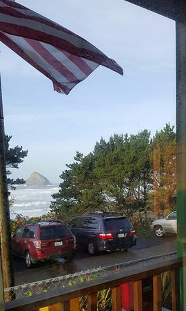 From our table at Blue Agate Cafe, Oceanside, OR