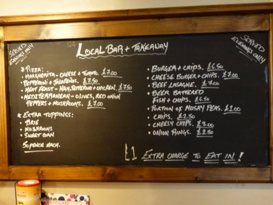 Ampleforth, UK: Local bar food options, traditional pub fodder at affordable prices