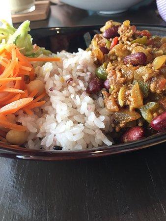 Hiratsuka, Japón: 日替わりのランチ。本日はスパイシー豆カレーでした。