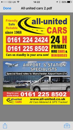 24 Hours Private Car Hire Picture Of All United Cars Manchester