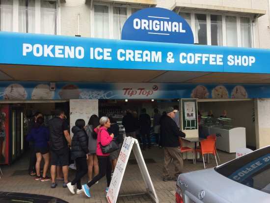 Pokeno, นิวซีแลนด์: Pokena ice cream & coffe shop