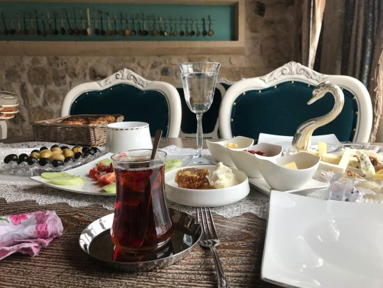 Ortahisar, Turkey: Traditional Turkey breakfast