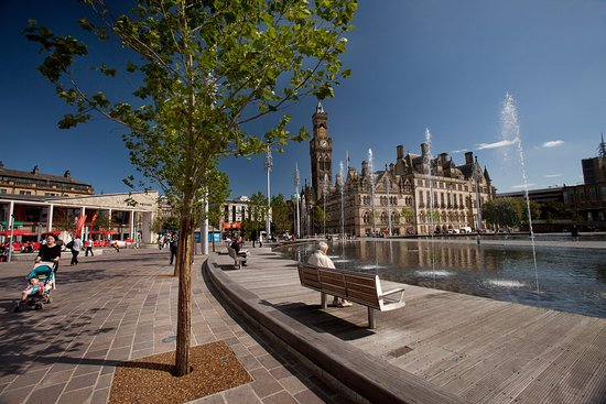 Bradford, UK: A lovely place to relax and watch the award-winning fountains