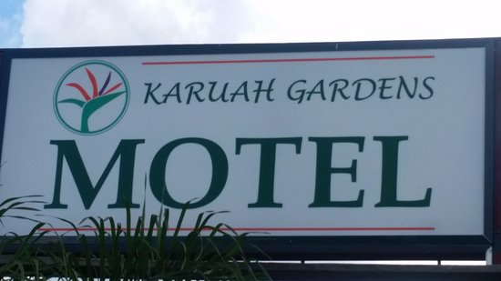 Karuah, Australia: Look out for our Sign