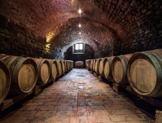 Radda in Chianti, Ιταλία: la barricaia per la fermentazione malolattica_the barricade for malolactic fermentation