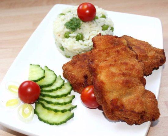 Beeston, UK: Breaded chicken thigh fillet