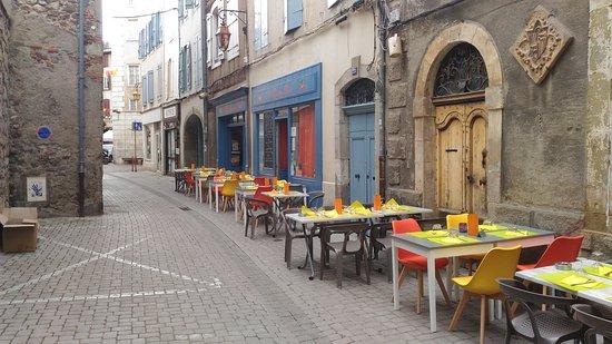 Foix, Frankrijk: La terrasse pour la fête de la 🎤🎼🎹🎶Musique!