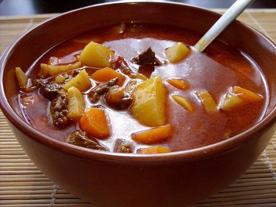 Beeston, UK: Beef Goulash soup