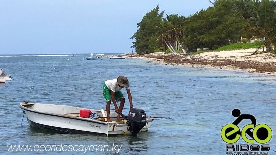East End, Grand Cayman: Local fisherman getting ready for a fishing day. Get the local experience with ECO Rides Cayman