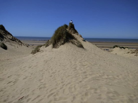 Walking through the dunes to Formby Beach
