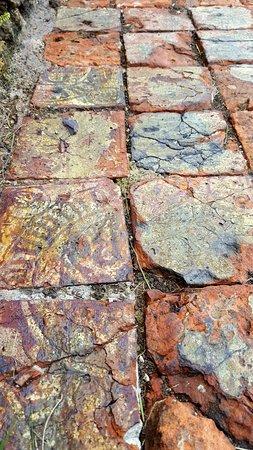Coxwold, UK: Beautiful mosaic floor tiles