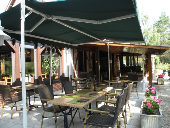 Gièvres, France : notre terrasse ombragée vous fera profiter du jardin avec le ruissellemment reposant de la casca