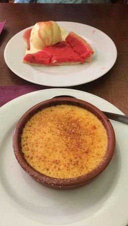 Le Laurencin: Crème brûlée et tarte praline