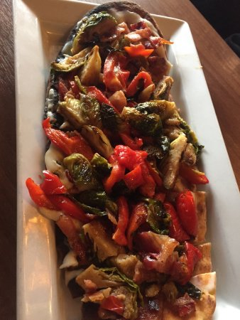 Somers, CT: Bacon and Brussels Flat Bread