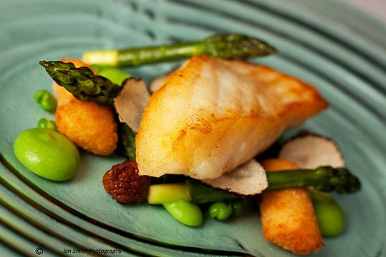 Lewdown, UK: Pan Roasted Fillet of Turbot