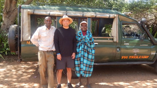 Fig Tree Camp: Our driver and guides Hiram and Nixon