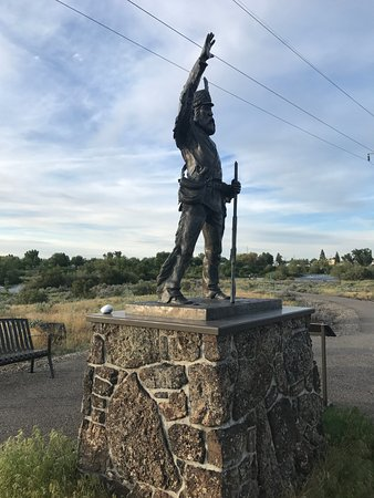 Saint Anthony, ID: Monument for Henry - overlooking the greenway