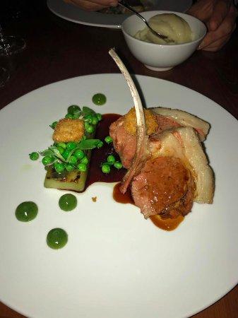 lamb & peas