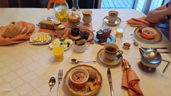 La Tremblante: Petit déjeuner