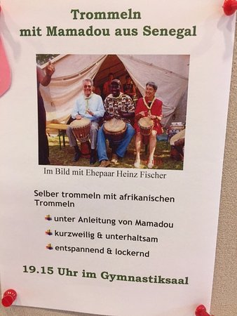 Monchhof, Österrike: Mamadou's african drums class
