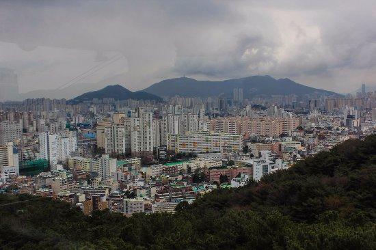 Geumgang Park: Вид с кабинки канатной дороги