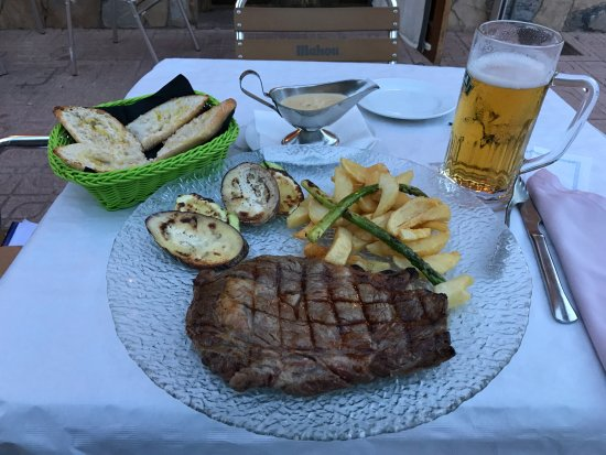 Banyeres de Mariola, Spain: Steak mit Bier ;-)