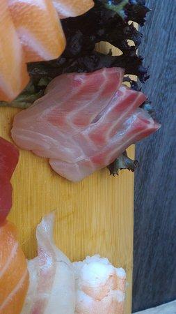 """Bastia Umbra, Italy: cambio di coloree si intravede il salmone """"spugna""""."""