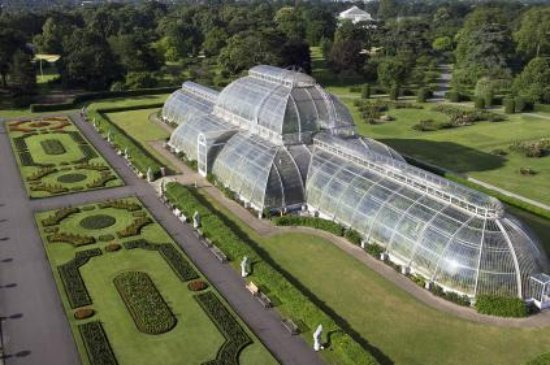 Kew, UK: The Palm House Parterre and Pond: