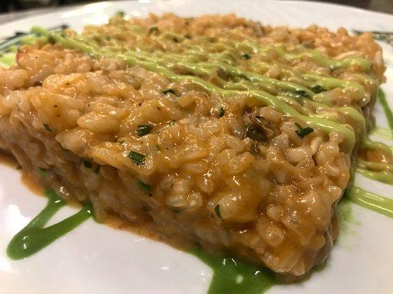 Bergara, España: arroz cremoso de marisco