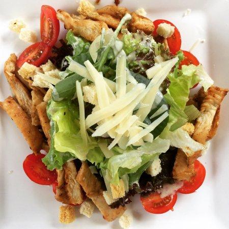 Boicucanga, SP: Caesar salad.